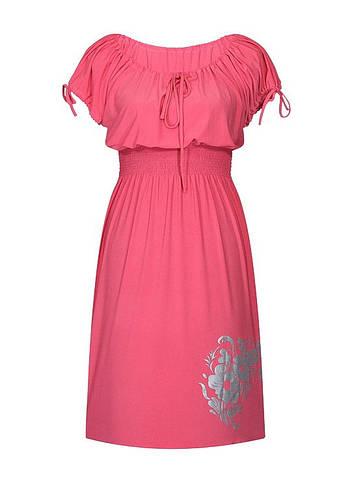 Платье с резинкой на талии Букет