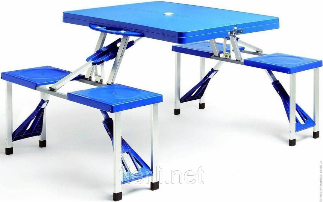 Стіл розкладний трансформер зі стільцями UnderPrice HXPT-8821-B
