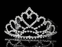 Диадема корона с гребешками, высота 7 см