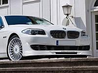 Накладка переднего бампера юбка губа обвес BMW F10 F11 стиль Alpina