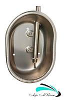 Чашечная овальная поилка для свиней от 30 кг (нержавеющая сталь)