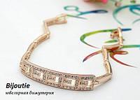 Браслет ANTIGUA  ювелирная бижутерия золото 18К декор кристаллы Swarovski