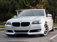 Губа юбка накладка переднего бампера обвес BMW F10 стиль AC Schnitzer