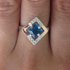 """Серебряное кольцо с золотом """"257"""""""