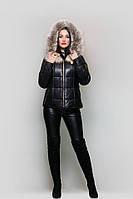 Двусторонняя куртка-жилетка из натуральной кожи с мехом