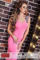 Платье - майка Moschino длинное с черной резинкой на шлейке