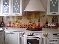 Стеклянный фартук для кухни. Киев