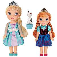Disney Игровой набор Холодное сердце Эльза, Анна и Олаф Frozen Deluxe Toddler Elsa and Anna Dolls