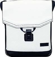Лаконичная женская сумочка из натуральной кожи VATTO Wk29 Fl6.2, белый+синий