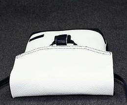Лаконичная женская сумочка из натуральной кожи VATTO Wk29 Fl6.2, белый+синий, фото 3