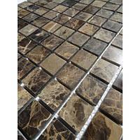 Мозаика из мрамора коричневая Vivacer SPT16