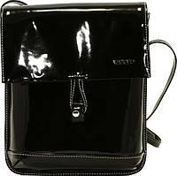Прекрасная женская сумочка из натуральной лаковой кожи VATTO Wk29 L1, черный