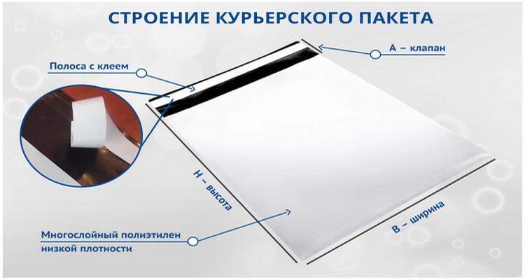 Упаковочные почтовые курьерские пакеты А-3
