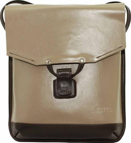 Миниатюрная женская сумочка из натуральной кожи VATTO Wk29 N3Kaz400, капучино+коричневый