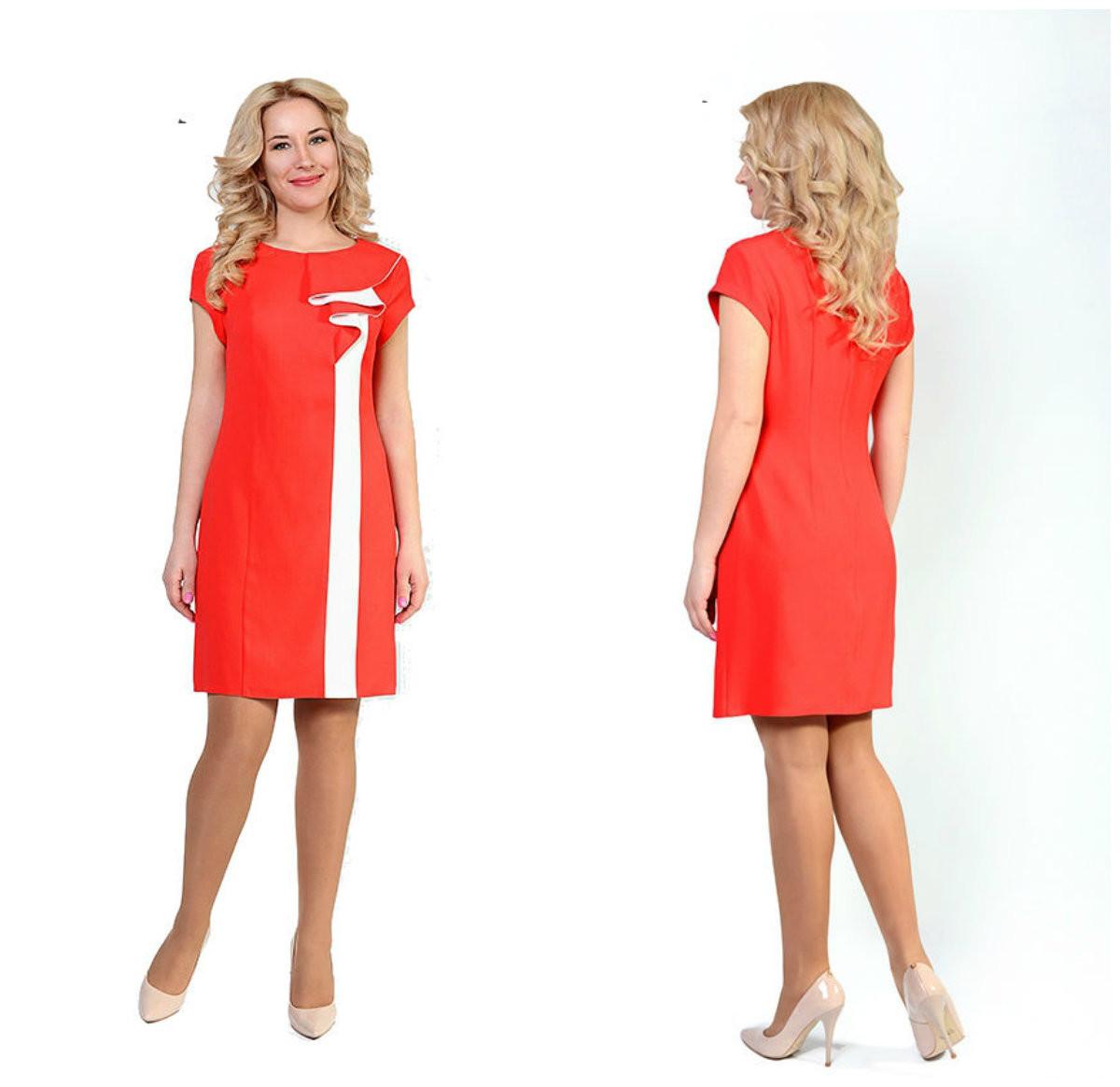 Полуприлегающее женское летнее платье, р.46,48,50,52