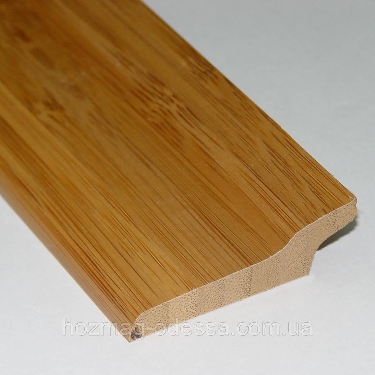 Плинтус бамбуковый темный