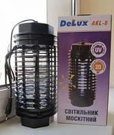 Ловушка для уничтожения насекомых до 20 м, ульрафиолетовая лампа,  DELUX AKL-8, фото 1