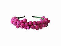 Обруч Калина розовый (Украинские венки, обручи, заколки)