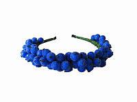 Обруч Калина синий (Украинские венки, обручи, заколки)