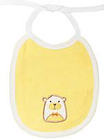 Детский нагрудник (слюнявчик) (Желтый)