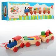 Деревянная игрушка Паровозик MD 0710 Metr+