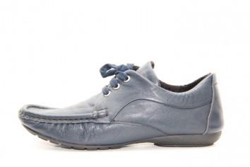 Туфли кожаные синие Norka