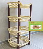 Пластиковая этажерка LUX на 4-и полки, зелёная, фото 7