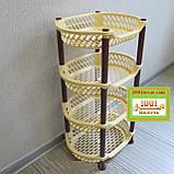 Пластиковая этажерка LUX на 4-и полки, зелёная, фото 9
