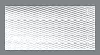 Жалюзи горизонтальные Прис-Хит перфорация белый (7201)