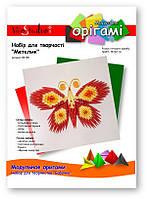 """Бабочка (красно-желтая), серия """"Модульное оригами"""""""