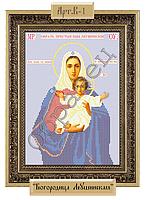Схема для вышивки бисером на габардине - «Пресвятая Богородица Леушинская» (Код: Схема, А4, Габардин, Арт.B-1)