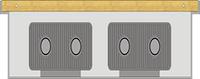 Внутрипольный конвектор FanCoil FC 09 plus mini 90x300x1750мм, естественная конвекция