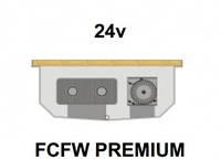 Внутрипольный конвектор FanCoil FCFW PREMIUM, 24v, 125x300x1000мм, для влажных помещений