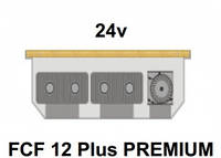 Внутрипольный конвектор FanCoil FCF 12 Plus PREMIUM, 24v, 120x380x1000мм, принудительная конвекция