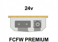 Внутрипольный конвектор FanCoil FCFW PREMIUM, 24v, 125x300x1250мм, для влажных помещений