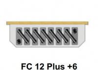 Внутрипольный конвектор FanCoil FC 12 Plus +6 120x380x1000мм, естественная конвекция
