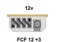 Внутрипольный конвектор FanCoil FCF 12 +3, 12v, 120x300x1250мм, принудительная конвекция