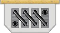 Внутрипольный конвектор FanCoil FC 12 +3 120x230x3000мм, естественная конвекция