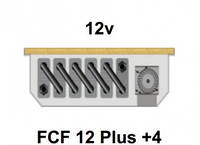 Внутрипольный конвектор FanCoil FCF 12 Plus +4, 12v, 120x380x1250мм, принудительная конвекция