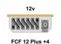 Внутрипольный конвектор FanCoil FCF 12 Plus +4, 12v, 120x380x1750мм, принудительная конвекция