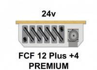 Внутрипольный конвектор FanCoil FCF 12 Plus +4 PREMIUM, 24v, 120x380x2000мм, принудительная конвекция
