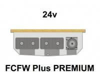 Внутрипольный конвектор FanCoil FCFW Plus PREMIUM, 24v, 125x380x3000мм, для влажных помещений