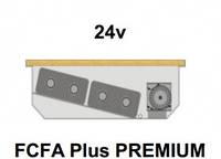 Внутрипольный конвектор FanCoil FCFA Plus PREMIUM, 24v, 125x380x2500мм, повышенной мощности