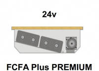 Внутрипольный конвектор FanCoil FCFA Plus PREMIUM, 24v, 125x380x3000мм, повышенной мощности
