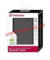 """Корпус для 2.5"""" HDD/ SSD Transcend USB 3.0 Rubber (TS0GSJ25CK3)"""