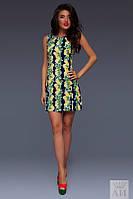 Платье Стильное маленькое платье летний принт цвет синий