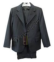"""Школьный костюм форма 3-ка для мальчиков """"Poiblanc"""" 50-56 р.р Черный клетка"""