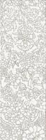 PRET-A-PORTER WHITE INSERTO FLOWER декор 250*750