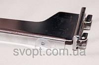 Полкодержатель в рейку хромированный с двойным креплением25 см.