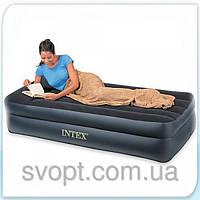 Односпальная надувная кровать Intex - 66721 (102см х 203см х 47см)
